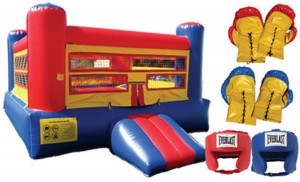 Bounce House Boxing Ring with Gloves
