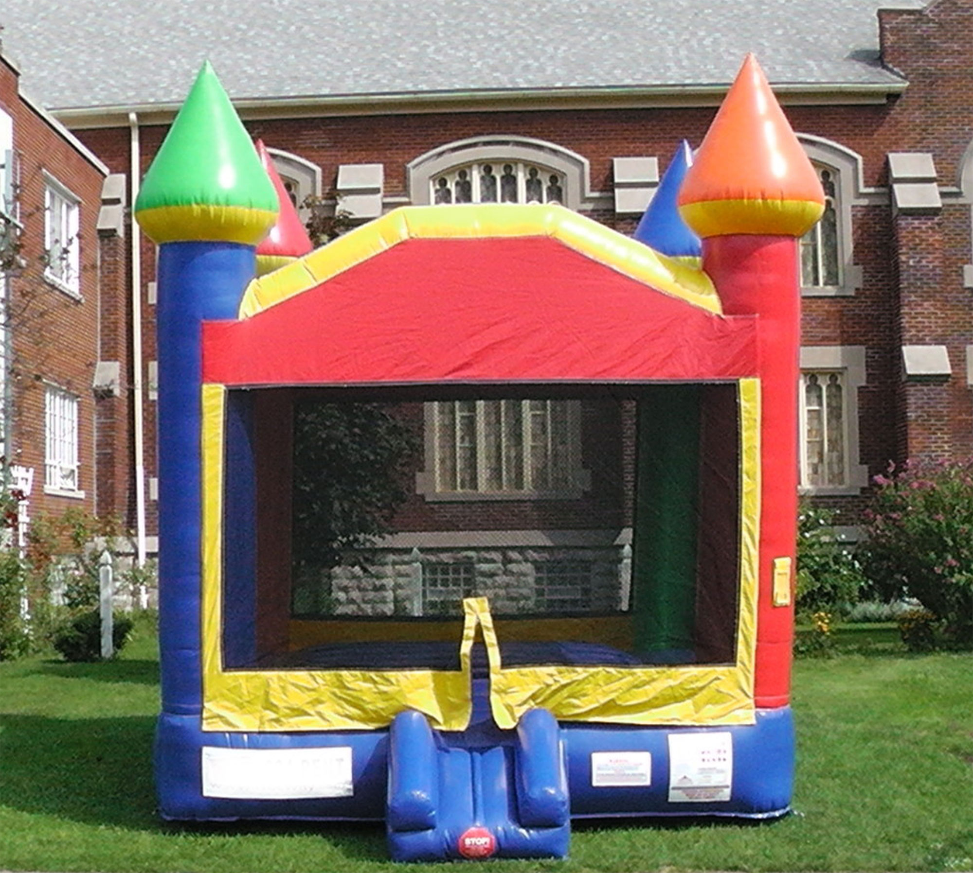 bounce house castles party rentals large colorful bounce house