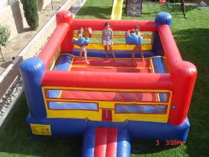 bounce house boxing ring