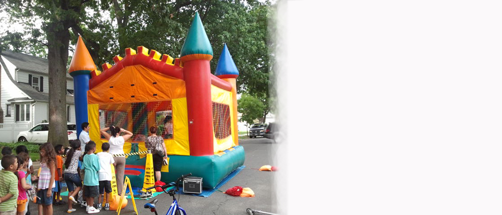 Fiesta Bounce Party Entertainment – Colorful Mooonwalk Bounce House Castle Rental – Westchester County, New York and NYC