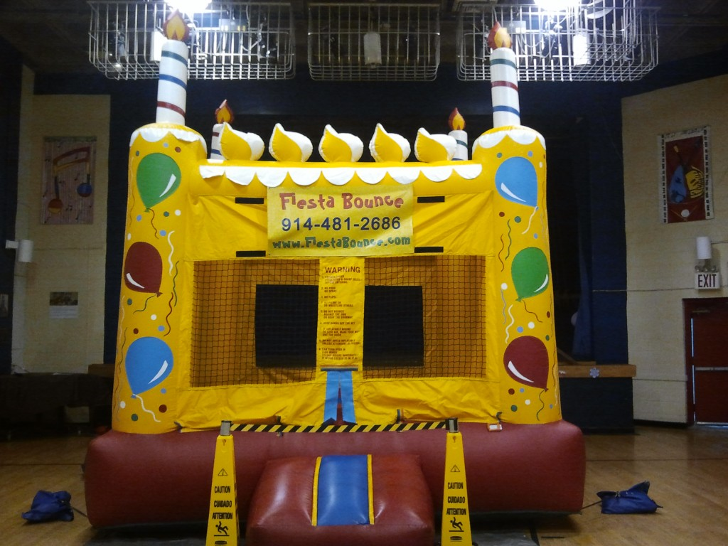Birthday Cake Bounce House for Indoor Party  Fiesta Bounce