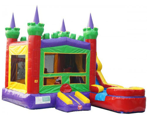 Compact Colorful Bounce Castle with Slide Combo